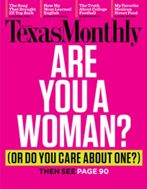 Cover of Texas Monthly August 2012