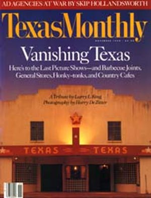 Cover of Texas Monthly November 1990
