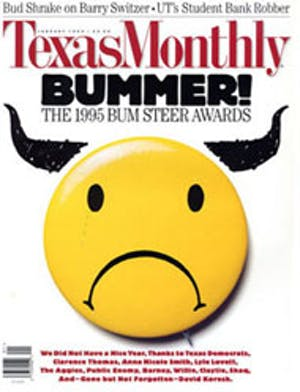 Cover of Texas Monthly January 1995