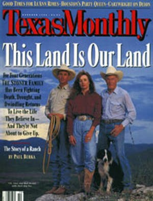 Cover of Texas Monthly October 1996