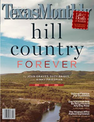 Cover of Texas Monthly April 2003