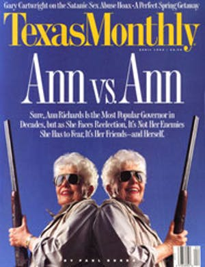 Cover of Texas Monthly April 1994