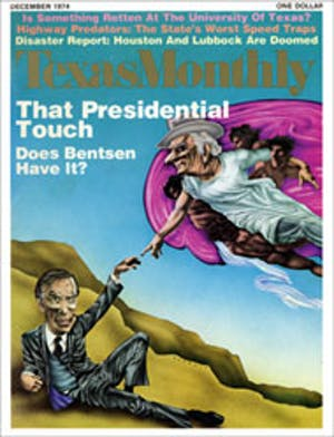 Cover of Texas Monthly December 1974