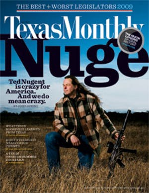Cover of Texas Monthly July 2009