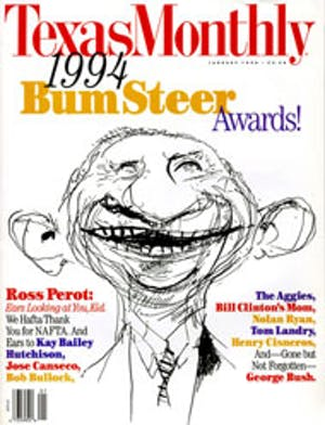 Cover of Texas Monthly January 1994