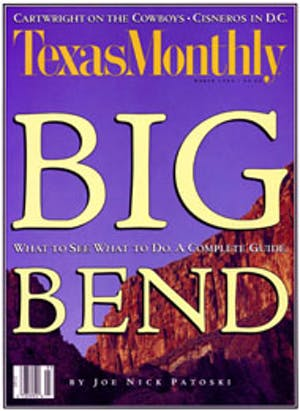 Cover of Texas Monthly March 1993