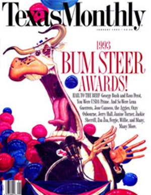 Cover of Texas Monthly January 1993