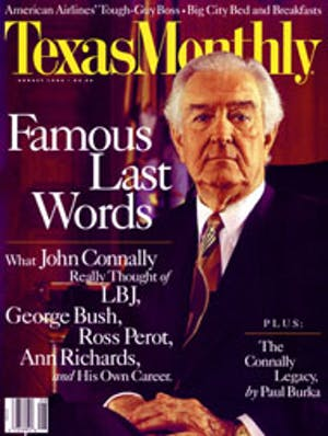 Cover of Texas Monthly August 1993