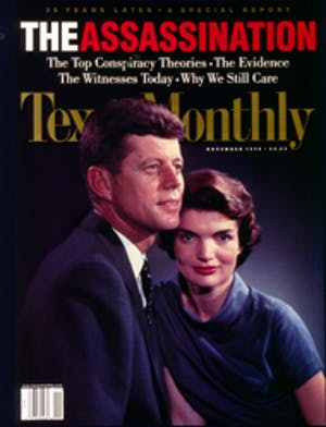 Cover of Texas Monthly November 1998