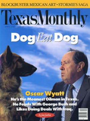 Cover of Texas Monthly April 1991