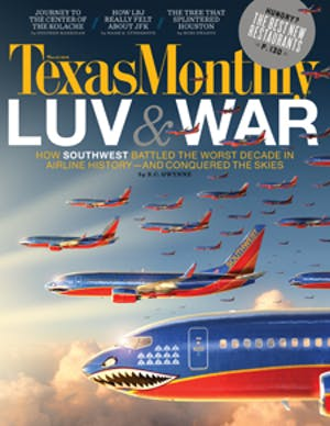 Cover of Texas Monthly March 2012