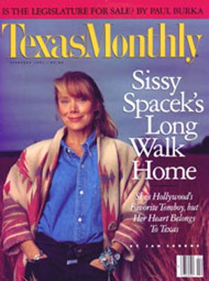 Cover of Texas Monthly February 1991