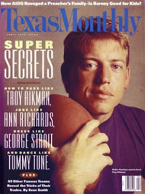Cover of Texas Monthly April 1993