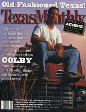 Cover of Texas Monthly August 2001
