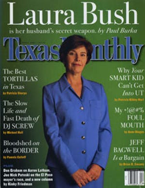 Cover of Texas Monthly April 2001
