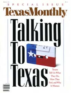 Cover of Texas Monthly March 1990