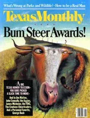 Cover of Texas Monthly January 1990