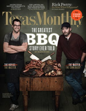 Cover of Texas Monthly February 2012