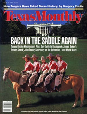 Cover of Texas Monthly March 1989