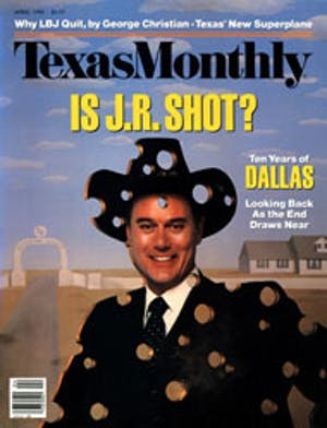 Cover of Texas Monthly April 1988