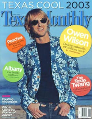 Cover of Texas Monthly June 2003