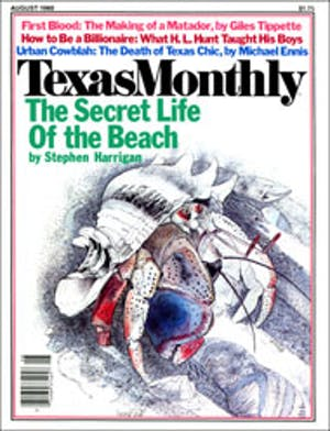 Cover of Texas Monthly August 1980