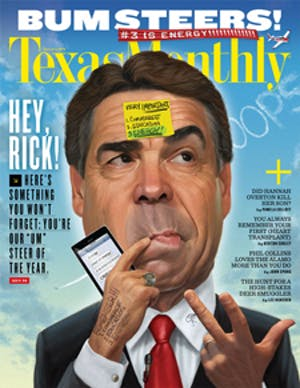 Cover of Texas Monthly January 2012