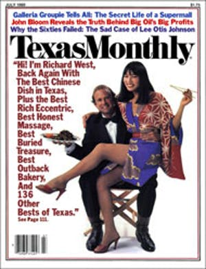 Cover of Texas Monthly July 1980