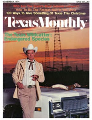 Cover of Texas Monthly November 1974