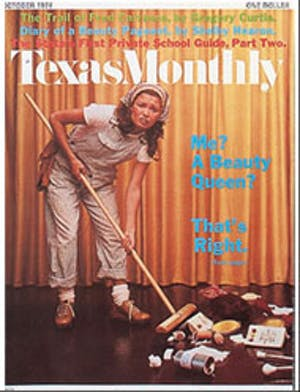Cover of Texas Monthly October 1974