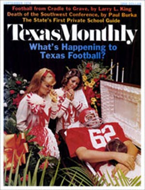 Cover of Texas Monthly September 1974