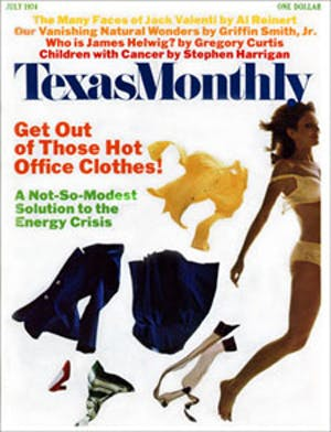 Cover of Texas Monthly July 1974