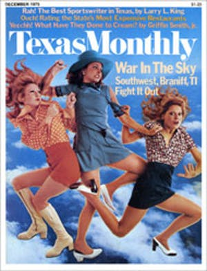 Cover of Texas Monthly December 1975