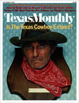 Cover of Texas Monthly October 1975