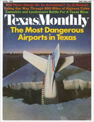 Cover of Texas Monthly April 1975