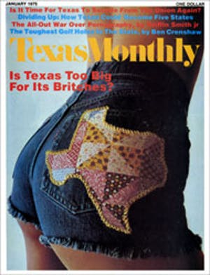 Cover of Texas Monthly January 1975