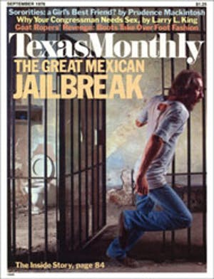 Cover of Texas Monthly September 1976