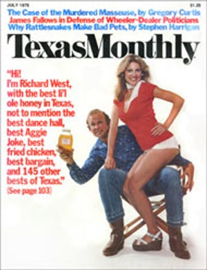 Cover of Texas Monthly July 1976