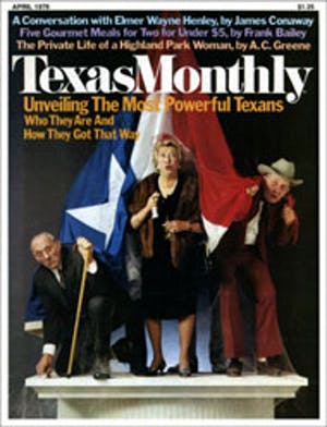 Cover of Texas Monthly April 1976
