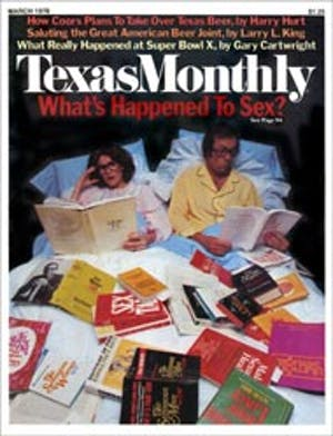 Cover of Texas Monthly March 1976
