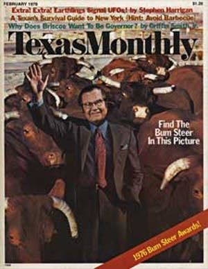 Cover of Texas Monthly February 1976
