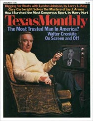 Cover of Texas Monthly January 1976