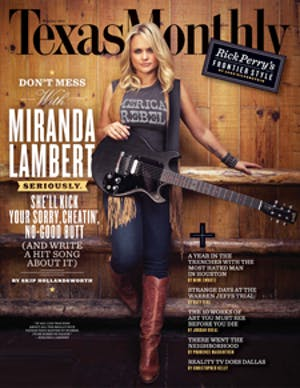 Cover of Texas Monthly October 2011