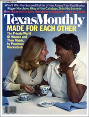 Cover of Texas Monthly December 1977