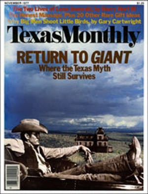 Cover of Texas Monthly November 1977