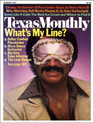 Cover of Texas Monthly August 1977