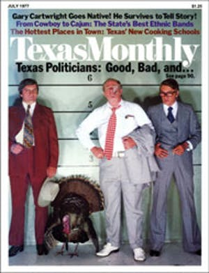 Cover of Texas Monthly July 1977