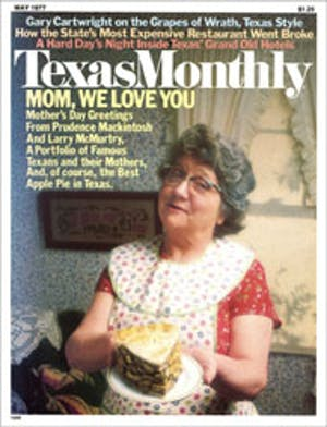 Cover of Texas Monthly May 1977