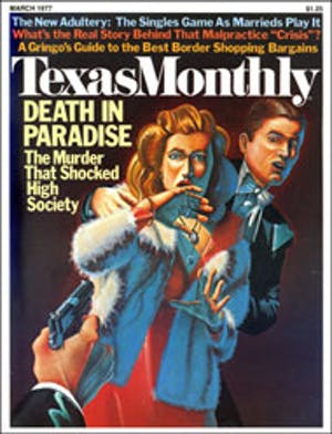 Cover of Texas Monthly March 1977