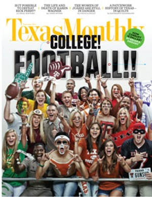Cover of Texas Monthly September 2011